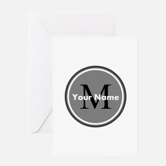 Custom Initial And Name Greeting Cards