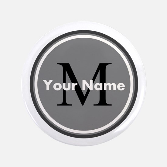 """Custom Initial And Name 3.5"""" Button"""