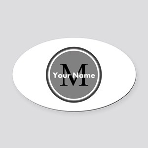 Custom Initial And Name Oval Car Magnet
