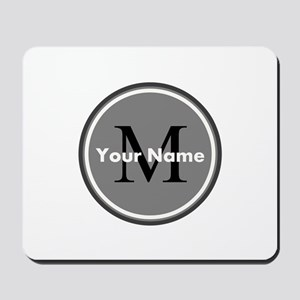 Custom Initial And Name Mousepad
