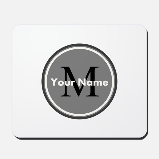 Custom Initial And Name Mousepad
