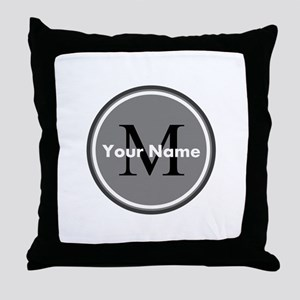 Custom Initial And Name Throw Pillow