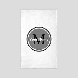 Custom Initial And Name Area Rug