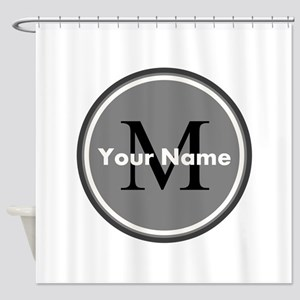 Custom Initial And Name Shower Curtain