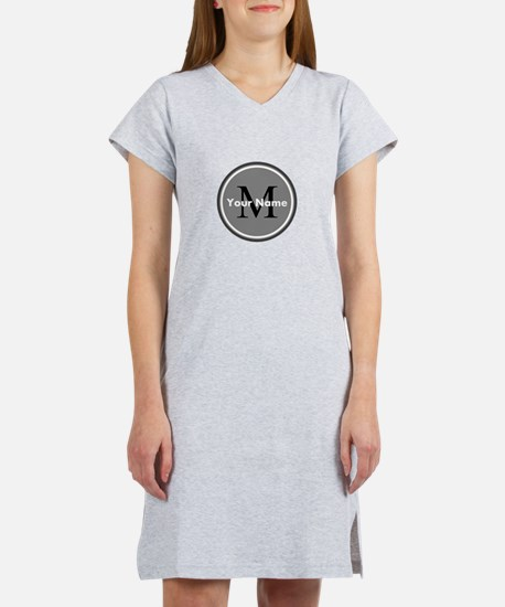 Custom Initial And Name Women's Nightshirt