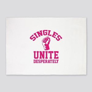 Singles Unite Desperately 5'x7'Area Rug