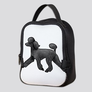 black poodle Neoprene Lunch Bag