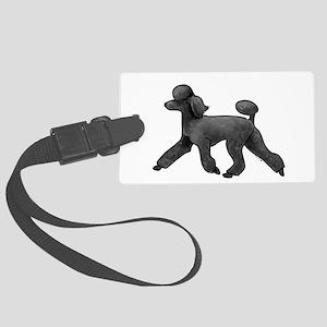 black poodle Luggage Tag