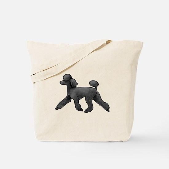 black poodle Tote Bag