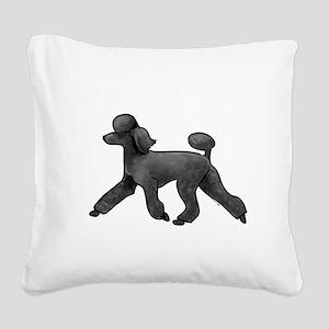 black poodle Square Canvas Pillow