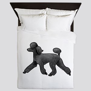 black poodle Queen Duvet