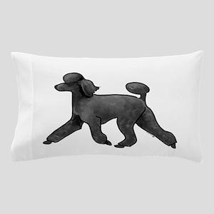black poodle Pillow Case