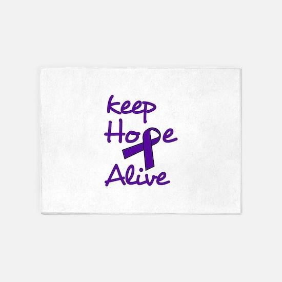 Keep Hope Alive 5'x7'Area Rug
