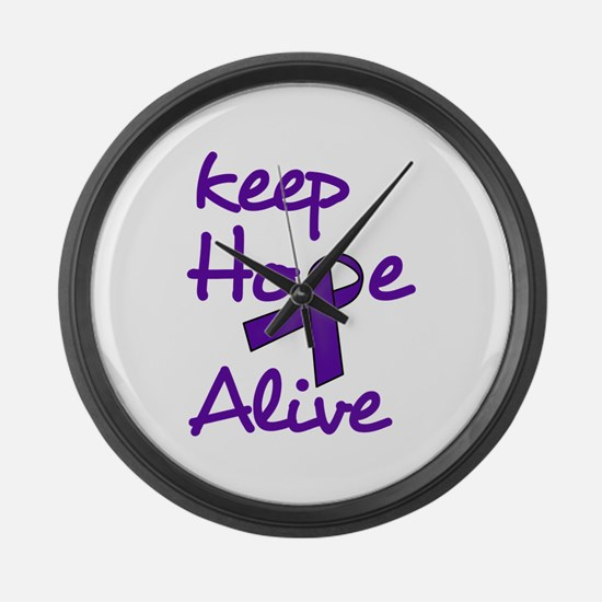 Keep Hope Alive Large Wall Clock