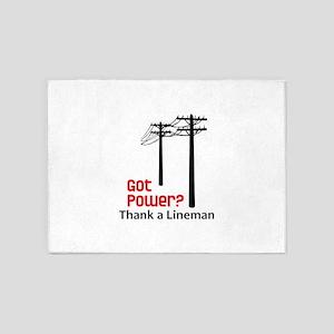 Got Power ? Thank A Lineman 5'x7'Area Rug