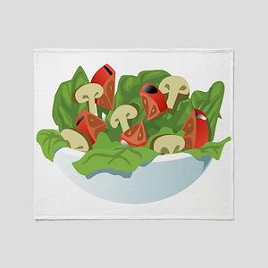 Bowl Of Salad Throw Blanket