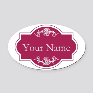 Add Your Name Oval Car Magnet