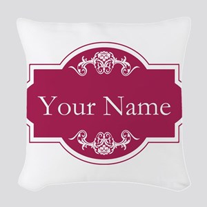 Add Your Name Woven Throw Pillow