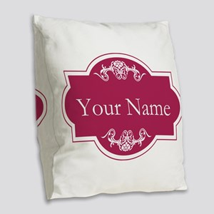 Add Your Name Burlap Throw Pillow