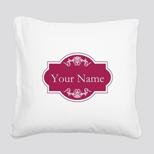 Add Your Name Square Canvas Pillow