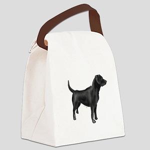 labrador retiever black Canvas Lunch Bag