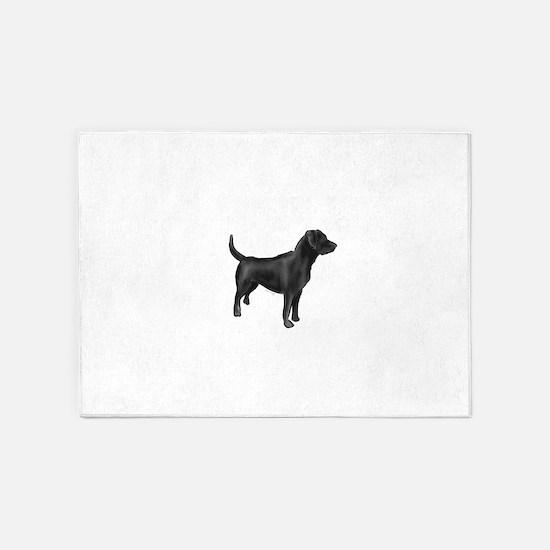 labrador retiever black 5'x7'Area Rug