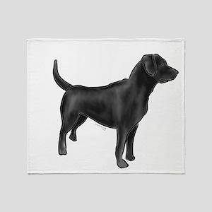 labrador retiever black Throw Blanket