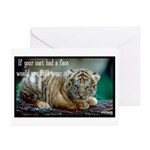 Tiger Coat Greeting Cards (Pk of 10)