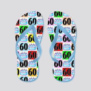60th Birthday Flip Flops