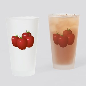 Red Apples Drinking Glass