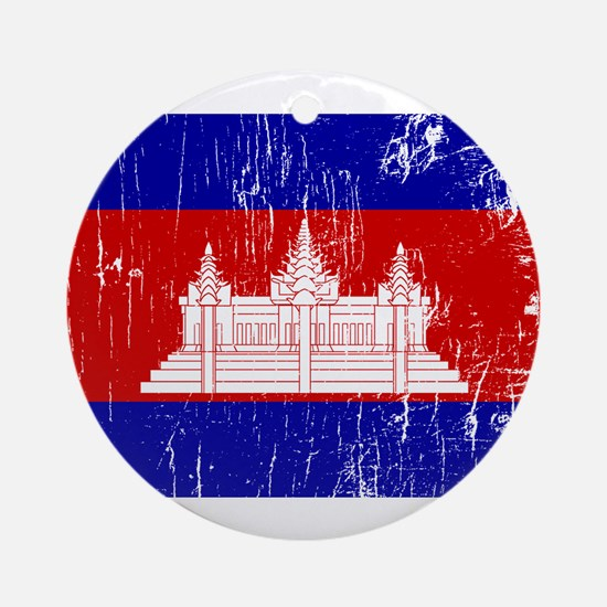 Vintage Cambodia Ornament (Round)