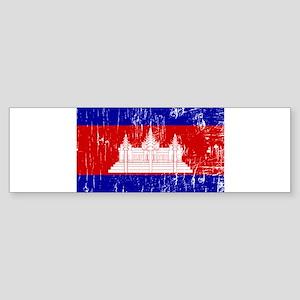 Vintage Cambodia Bumper Sticker