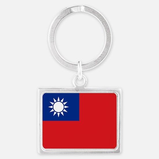 ROC flag Landscape Keychain