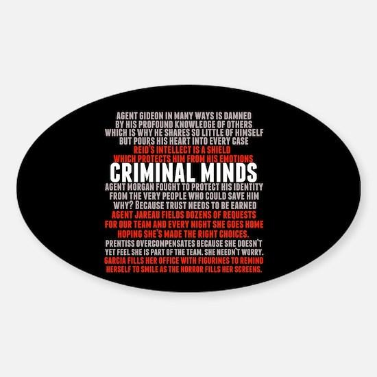 Criminal Minds Team Sticker (Oval)