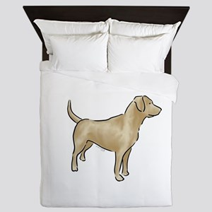 labrador retriever yellow Queen Duvet