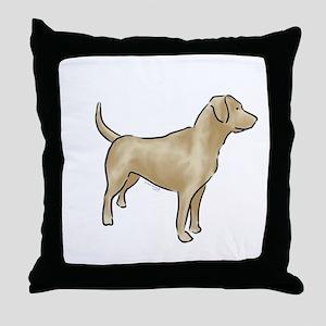 labrador retriever yellow Throw Pillow
