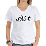Snowshoe Evolution Women's V-Neck T-Shirt