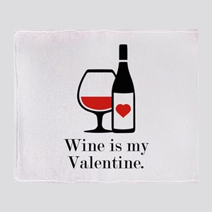 Wine Is My Valentine Stadium Blanket
