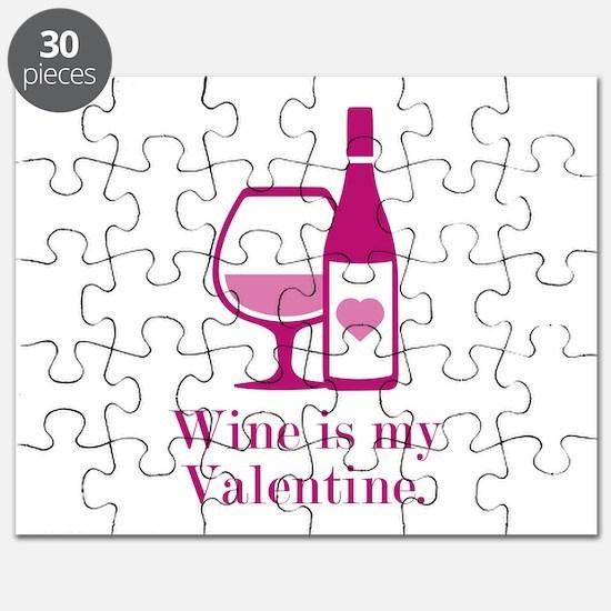 Wine Is My Valentine Puzzle