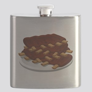 Plate Of Ribs Flask