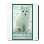 Wolf Coat Mousepad