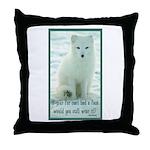 Wolf Coat Throw Pillow