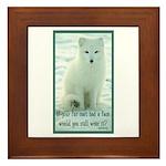 Wolf Coat Framed Tile
