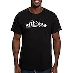 Skateboard Evolution Men's Fitted T-Shirt (dark)