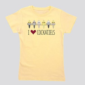 I Love Cockatiels Girl's Tee