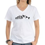 Snowboard Evolution Women's V-Neck T-Shirt