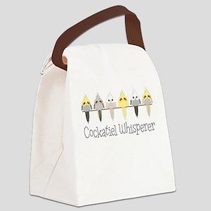 Cockatiel Whisperer Canvas Lunch Bag