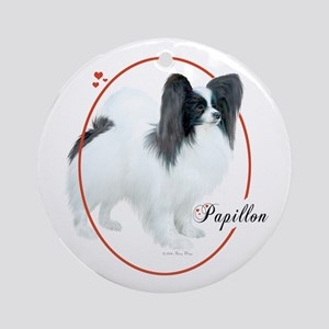 Papillon Cameo Round Ornament