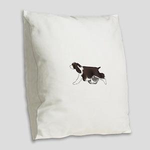 english springer spaniel Burlap Throw Pillow