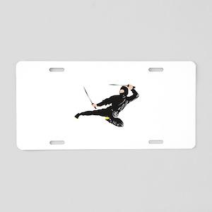 Ninja kick Aluminum License Plate